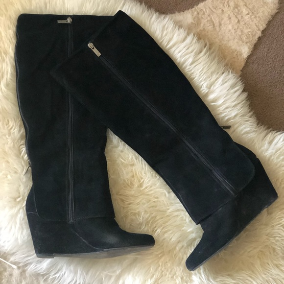 Jessica Simpson Shoes - Jessica Simpson Tall Suede Wedge Boots
